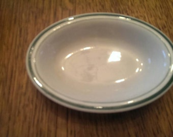 Vintage Mini Tepco China Dish with Green Trim