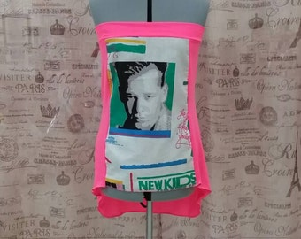 NKOTB Tube Top Beach Cover Up Cruise Shirt Knit Top Sexy 90s Retro New Kids On The Block Donnie  Ready to Ship