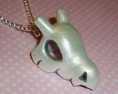 Pokemon - Shiny Cubone Skull Charm Necklace