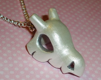 Pokemon - Shiny Cubone Skull Charm Necklace