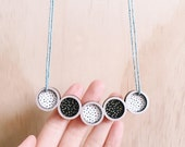 Pendulum Necklace . Wooden Necklace