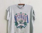 SALE Vintage Austraila t shirt cropped tee heather grey tshirt souvenir tshirt
