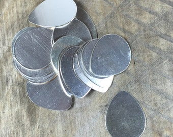 6 - Sterling silver small guitar pick 24 gauge 25mm x 18mm - So easy to make cool stuff with