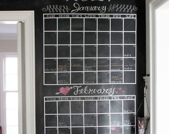 DIY Chalkboard Calendar - Set of Lines to Create Your Own Chalkboard Calendar