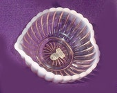 Fenton Pink Opalescent Ribbed Dish - A Beauty - Original Label