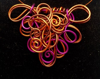 Wire Curls and Swirls in Your Choice of 3 Color