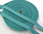 "Teal Green Cotton Twill Tape Trim- 11/16"" wide - 5 yards - Sewing Trim Supplies - Woven Flat Tape Sewing Trim for Decoration, Ribbon"