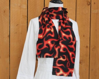 Flame Fleece Fringe Scarf Men's or Women's
