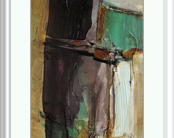 ACEO Jewel of the Nile  ABSTRACT Painting Art Oil Colette Davis