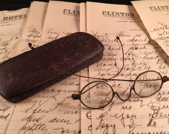 Pair of Vintage Children's Eyeglasses/Spectacles with Loop Earpieces
