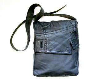 Recycled Leather Bag - JENA in Grey