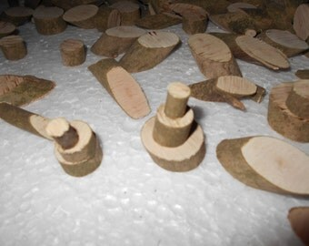 350 to Over 400 Small Tree, Twig Slices Some Round, Some Oval Cut.