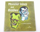 Monster Jokes and Riddles Vintage 1970s Children's Scholastic Book by Norman Bridwell