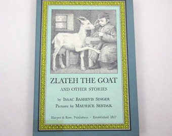 Zlateh the Goat and Other Stories Vintage 1960s Children's Book by Isaac Bashevis Singer Illustrated by Maurice Sendak