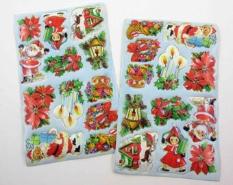 Vintage Christmas Seals Stickers or Labels Set of 24