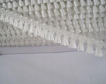 5 yards  Mini  Fringe Trim Tassel Trim  - Number 90 Off White