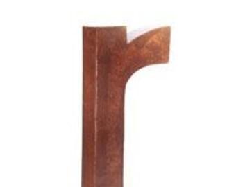 Letter R Industrial Salvage Vintage Alphabet