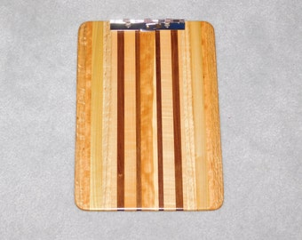 "Standard Size Wood Clipboard (9""x13"") - Maple, Poplar, Walnut, Cherry and Oak"