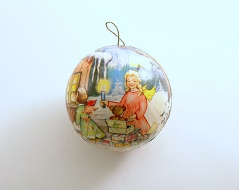 Vintage Christmas Ornament Candy Container Angels Western Germany