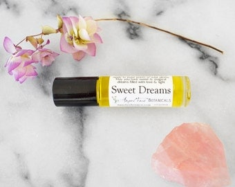Sweet Dreams Gemstone Aromatherapy for Sleep - Magical Aromatherapy Potion to Enhance Your Dreams - Organic Roll-on with Essential Oils