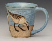 RESERVED FOR PAM--Birds & Beach Mug #4 of 6