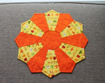 """12.5"""" Fall Leaf Dresden Plate Table Topper"""