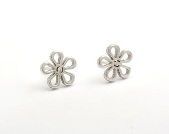 Flower Stainless Steel Earring Post Finding (E38567)