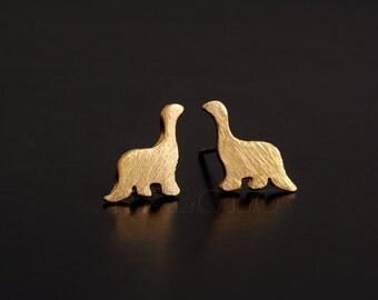 Dinosaur Dino Golden Stud Earring Post Finding (ET034A)