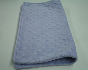 Lavender Minky Burp Cloth Receiving Blanket Double Sided 16 x 19 READY TO SHIP