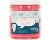 Pemberley Gardens - Soy Candle - Book Lovers' Scented Soy Candle - 8oz jar
