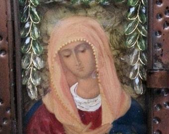 Saint Clare, retablo