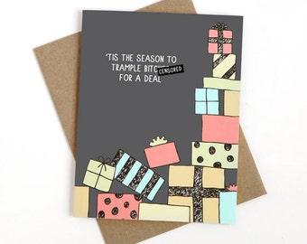 Funny Christmas Card - Consumerism - Mature
