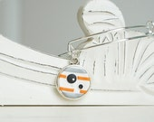 Star Wars Droid BB8 Adjustable Bangle Bracelet