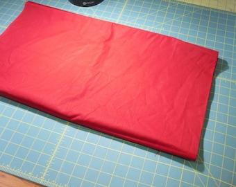 Deep Rich  Red  100% cotton fabric .... 2.50 yard piece