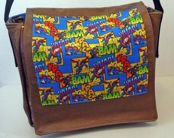 Superman Leather Messenger Bag