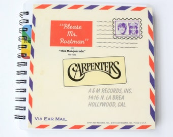 Carpenters  // Record Journal & Sketchbook // Recycled 45 Album Cover