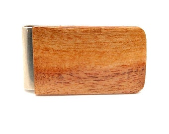 Handmade Wood Money Clip Acacia Wood