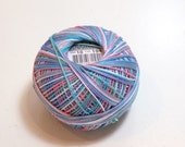 Tatting Thread, Lizbeth Size 10 Cotton Crochet Thread, Summer Fun Color Number 104, Variegated Crochet Thread