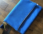 SALE - Blue Envelope Clutch - Ready to ship