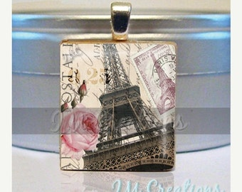 60% OFF CLEARANCE Scrabble Tile Pendants - Glorious Eiffel Tower (SYM362)