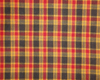 Homespun Material | Plaid Material | Cotton Material | Home Decor Material | Quilt Material | Craft Material | Doll Making Fabric | 1 Yard