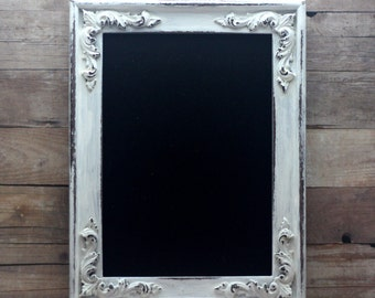 Chalkboard Frame Distressed White Shabby and Chic 5x7 Photo Prop Wedding