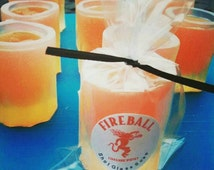 Mens. Mens Gift. College Student Gift. Dad. SHOT GLASS Soap, Novelty Gift, Fireball, Father, Dad, Party Favors, Bar Prank, Gag Gift, for Him