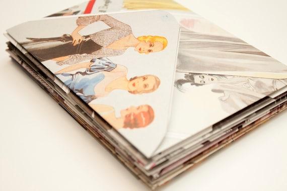 Fashion - Upcycled Envelopes - Set of 10 - Medium