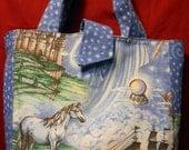UNICORN Tote or Handbag, with taffeta lining and pockets