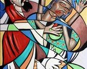 Jesus Heals The Brokenhearted Giclee Print Christian Anthony Falbo