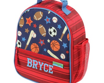 Boys Personalized Lunch Bag Sports, Insulated Monogrammed