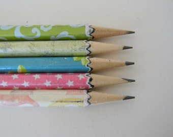 Hand wrapped pencils Girls set
