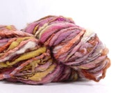Hand Spun Bulky Weight Art Yarn- Sandstone