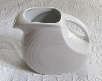 White Fiesta Pitcher . White Water Pitcher . by Homer Laughlin . white pitcher